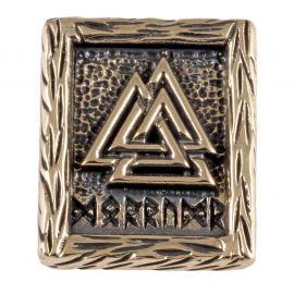 Rune VALKNUT aus Bronze