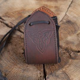 Lederbeutel Keltischer Knoten braun