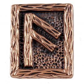 Rune ANSUZ aus Bronze
