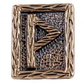 Rune WUNJO aus Bronze