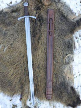 Kreuzritter Scheibenknauf-Schwert