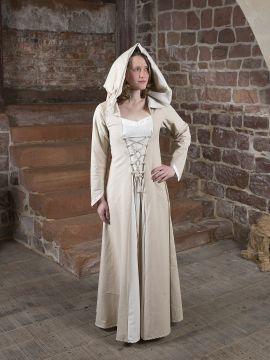 Mittelalterkleid Floriel creme-weiß