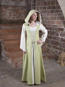 Mittelalterkleid Irmel grün-weiß