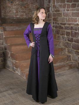 Mittelalterkleid Jacqueline schwarz - lila