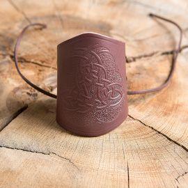 Armstulpe geprägt keltischer Knoten braun
