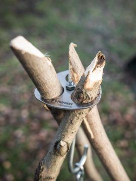 Dreibein-Ring mit Kette und Haken