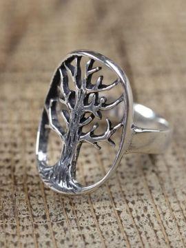 Ring Lebensbaum, 925er Silber