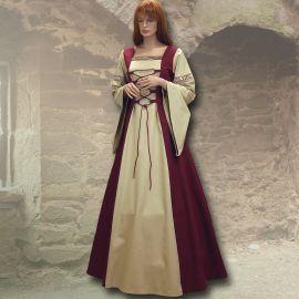 Kleid Sylvia weinrot-sand