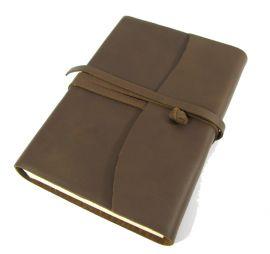 Tagebuch im Einband aus 100%  Rinderleder Mittel 12x17 cm | schwarz