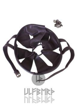 Helm-Inlet aus Leder