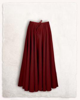 Mittelalterrock aus Wolle bordeaux