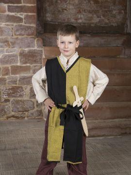 Kinder-Waffenrock mit Bindegürtel gelb-schwarz