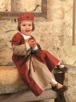Kleid Burgfräulein mit Krone