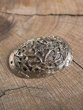 Große Ovalfibel aus Bronze