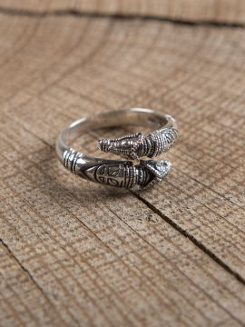 Drachenkopfring 925er Silber