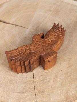 Holzdose Rabe