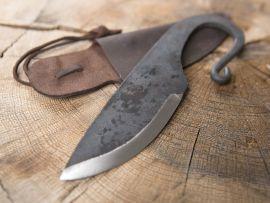 Wikingermesser mit Lederscheide