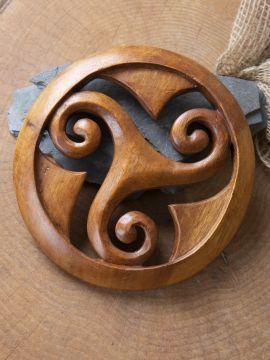 Holz-Wandschmuck Runde Triskele