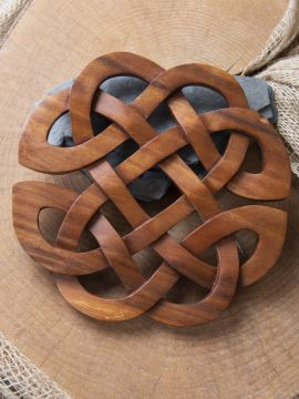 Holz-Wandschmuck Keltische Herzen