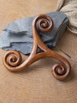Holz-Wandschmuck Keltische Triskele