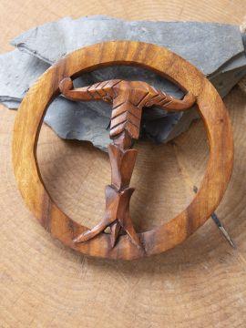 Holz-Wandschmuck Irminsul