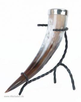 Trinkhorn mit Mundrand aus Zinn