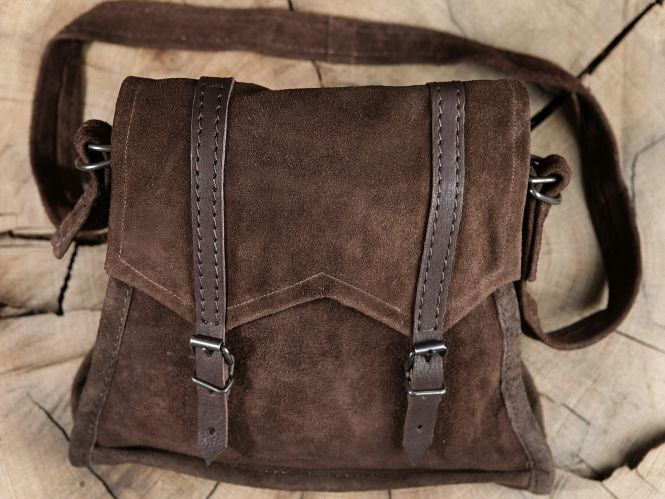 Braune Wildledertasche zum Umh�ngen
