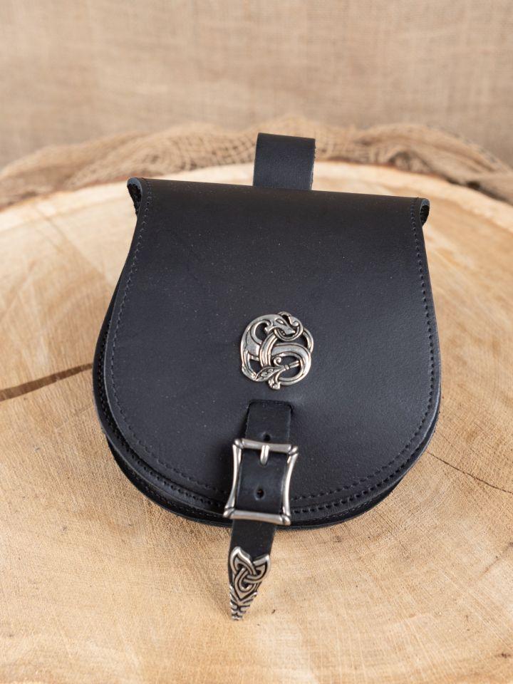 """große Wikingertasche """"Drache"""" schwarz"""