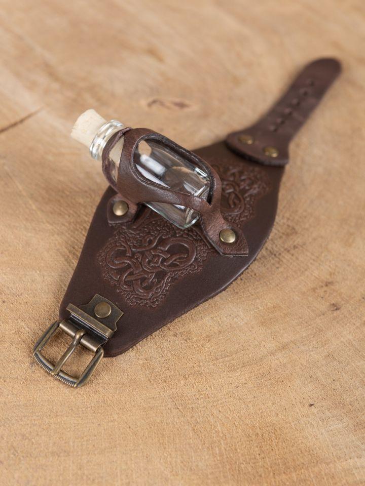 Armband mit Trankflasche braun geprägt