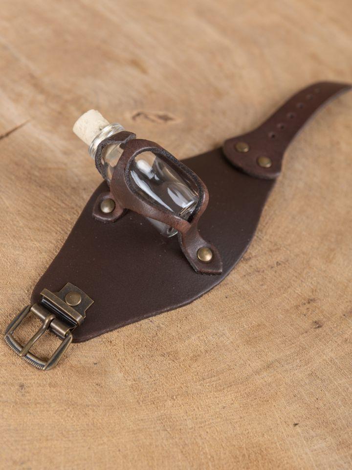 Armband mit Trankflasche braun