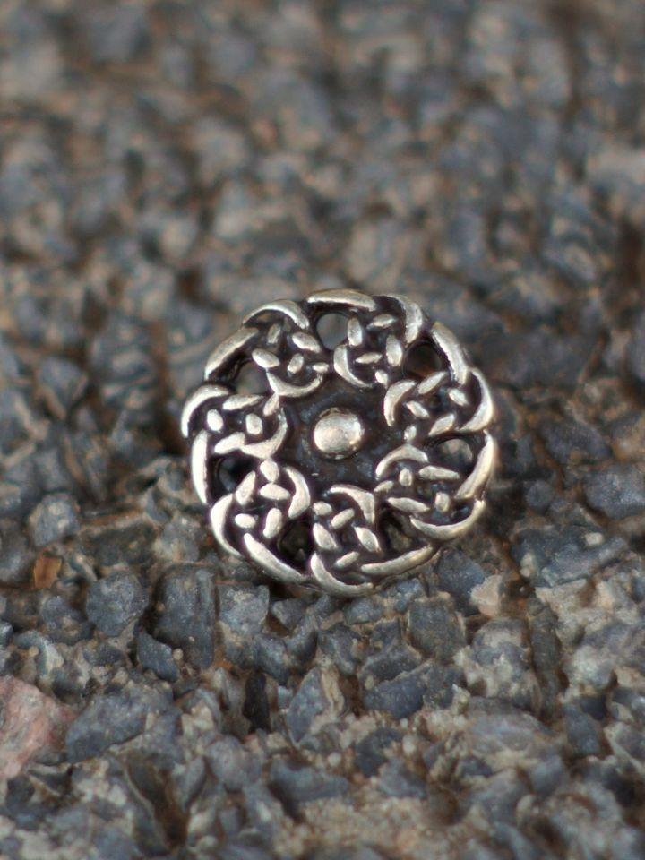 Keltischer Knopf silber einzeln