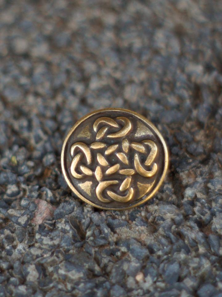 Knopf mit Keltenkreuz - bronze