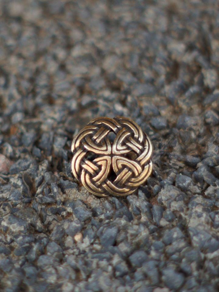 Knopf mit Keltischem Knoten messing