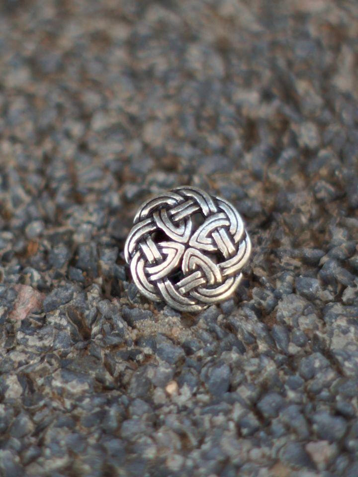 Knopf mit Keltischem Knoten silber