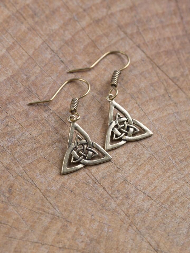Ohrringe Triangel bronze