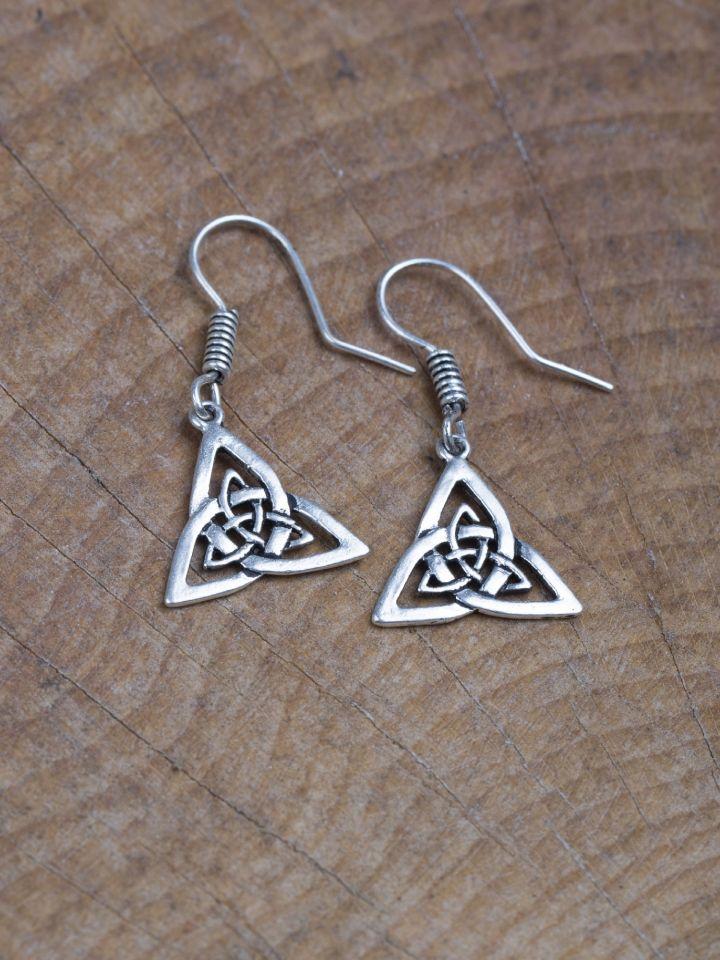 Ohrringe Triangel versilbert