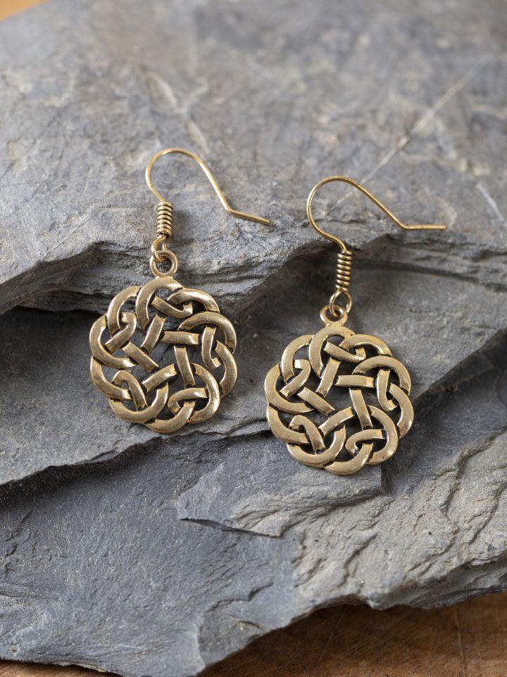 Ohrringe keltischer Knoten bronze