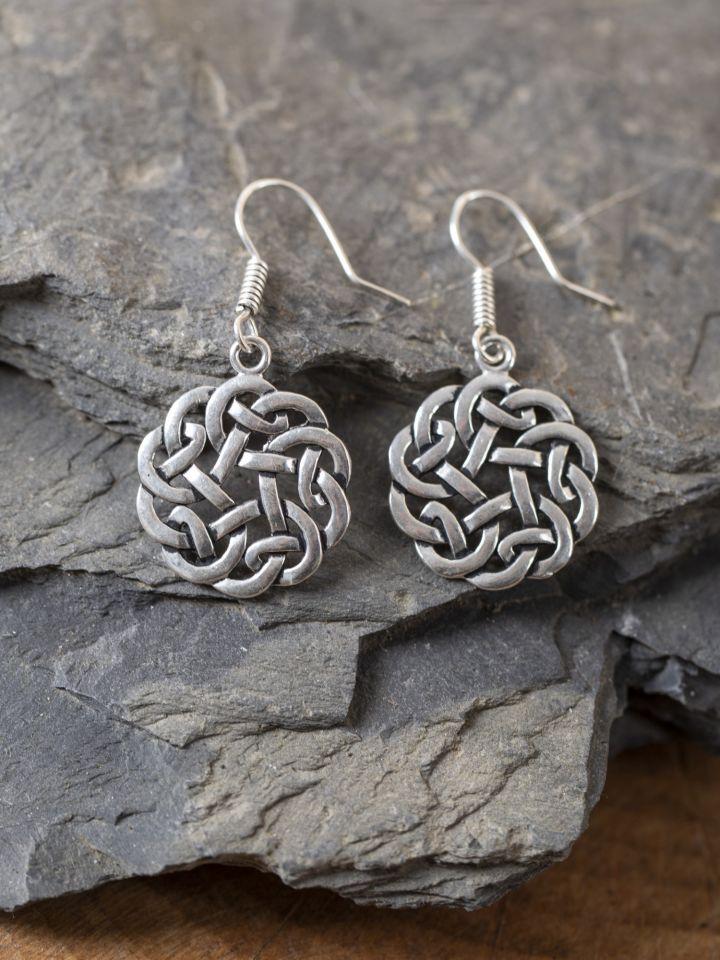 Ohrringe keltischer Knoten versilbert