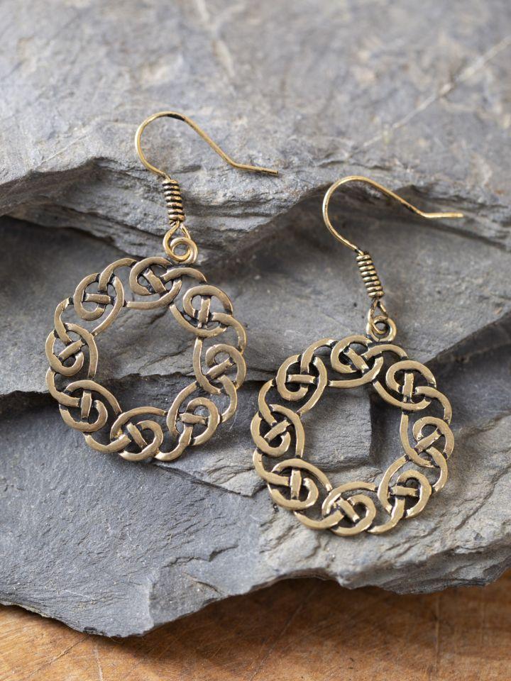 Ohrringe keltischer Kranz bronze