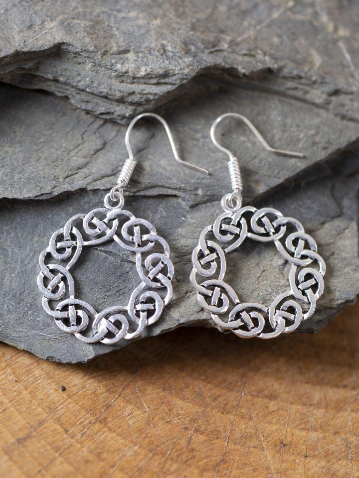 Ohrringe keltischer Kranz versilbert