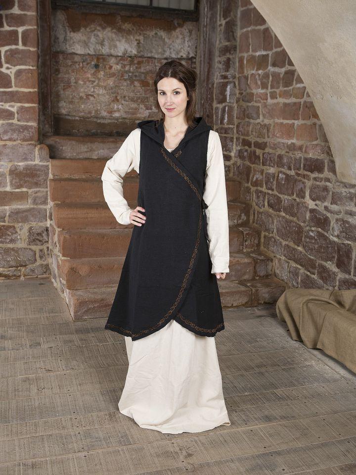 Wickelkleid Dala aus Baumwolle schwarz