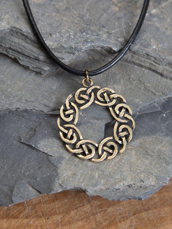 """Keltisches Amulett """"Kranz"""" - bronze"""