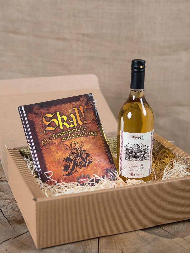 Geschenkbox mit Met und Buch