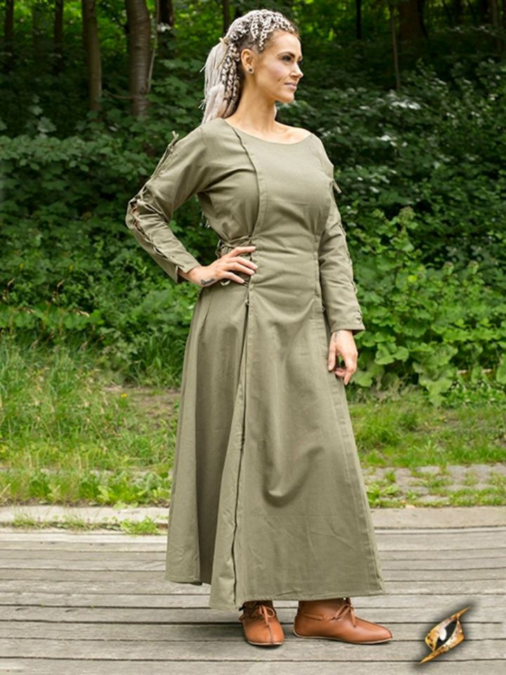 Kleid mit Schnürung grün S