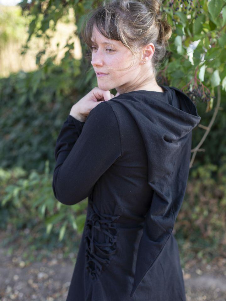 Bluse mit Zipfelkapuze schwarz