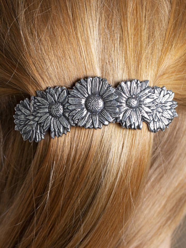 Haarspange mit Blumenmuster
