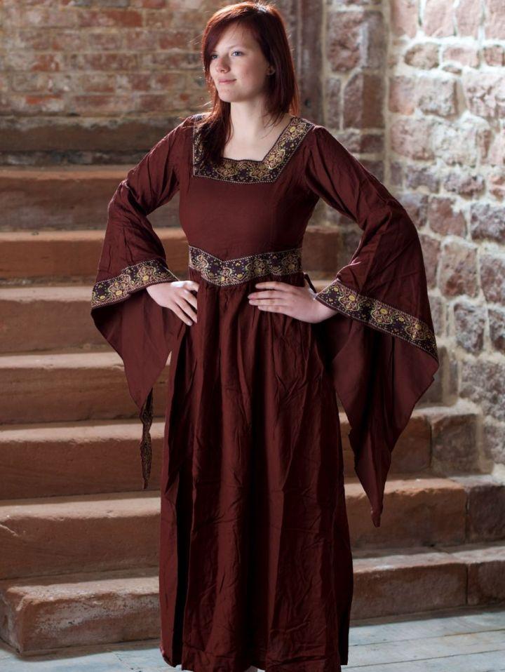 Mittelalterkleid Burgund in rot L