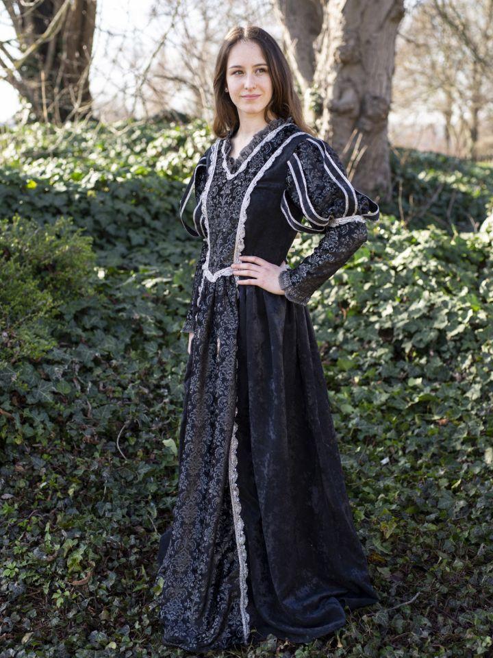 Tudorkleid schwarz