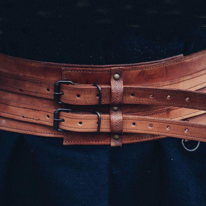 Wikingergürtel cognacbraun