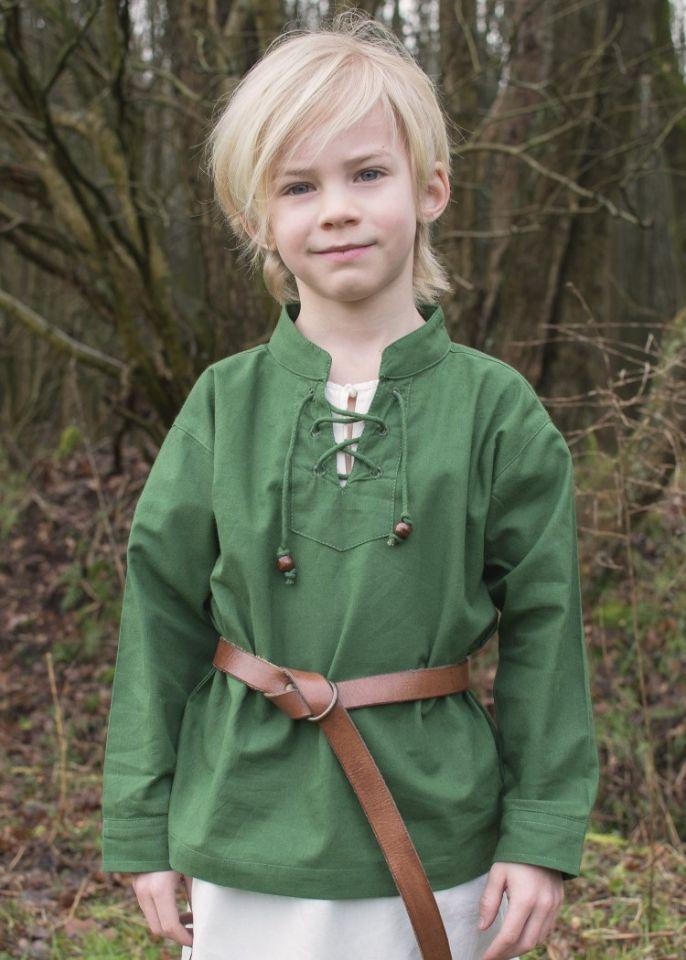 Kinder Mittelalterhemd grün